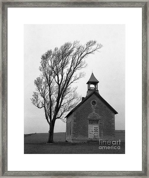 Kansas Schoolhouse Framed Print