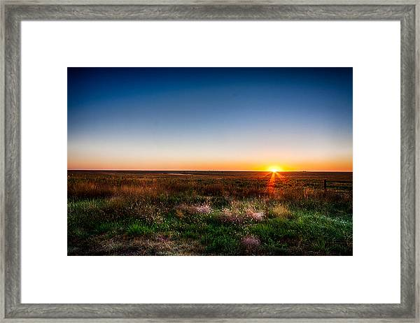 Kansas Sunrise Framed Print
