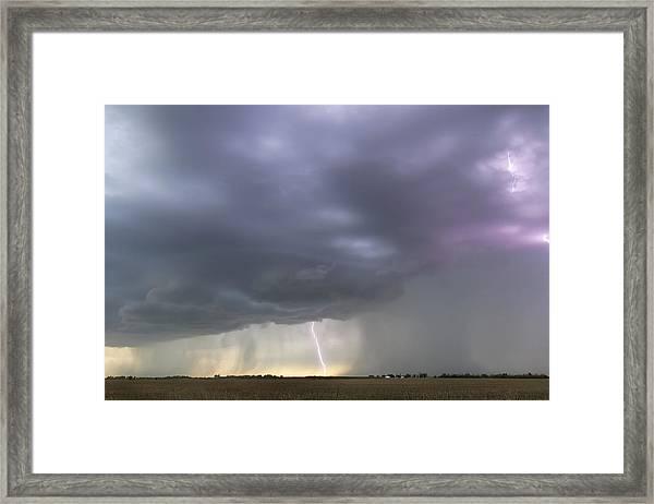 Kansas Thunderstorm Framed Print