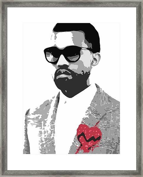 Kanye West Framed Print