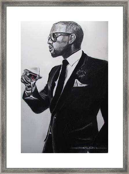 Kanye West - Maga Hat Framed Print