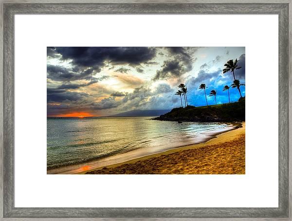 Kapalua Bay Sunset Framed Print