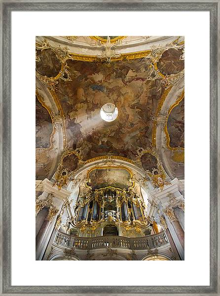 Kappele Wurzburg Organ And Ceiling Framed Print