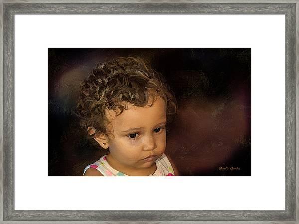 Karelix's Tear Framed Print