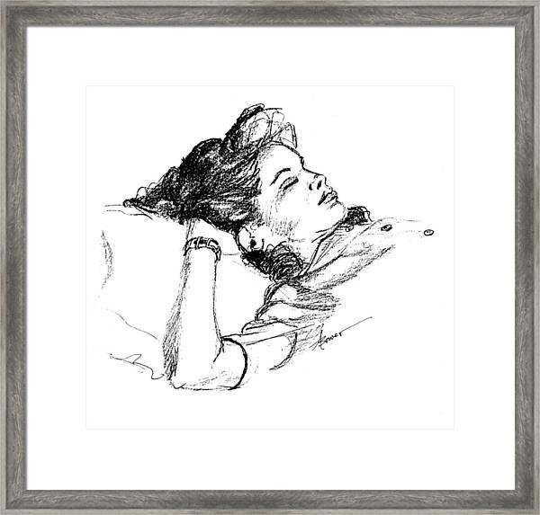 Karen's Nap Framed Print