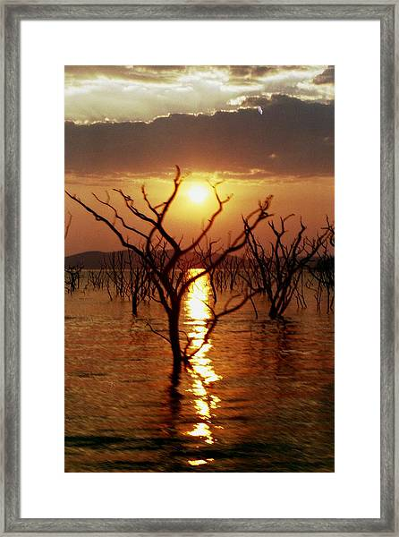 Kariba Sunset Framed Print