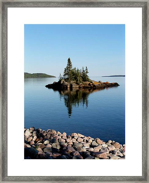 Framed Print featuring the photograph Karin Island - Photography by Gigi Dequanne