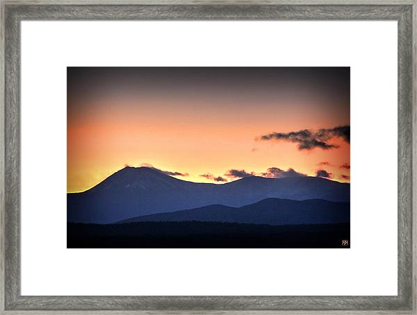 Katahdin Sunset Framed Print