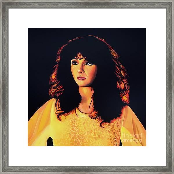 Kate Bush Painting Framed Print