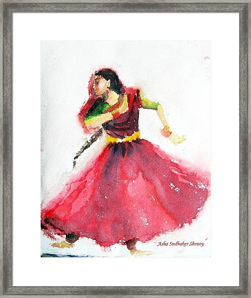 Kathak Dancer Framed Print