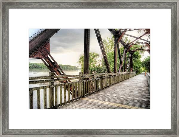 Katy Trail Near Easley Framed Print