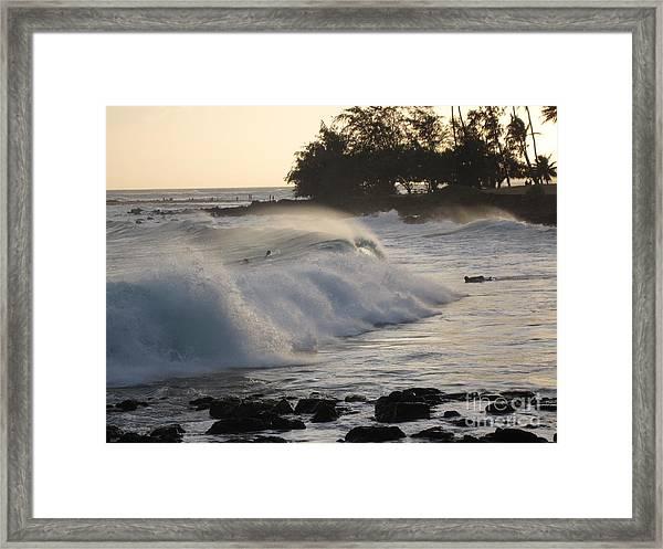 Kauai - Brenecke Beach Surf Framed Print