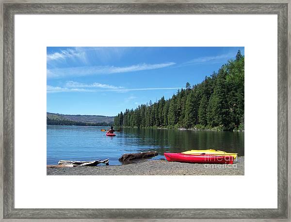 Kayaking On Suttle Lake Framed Print