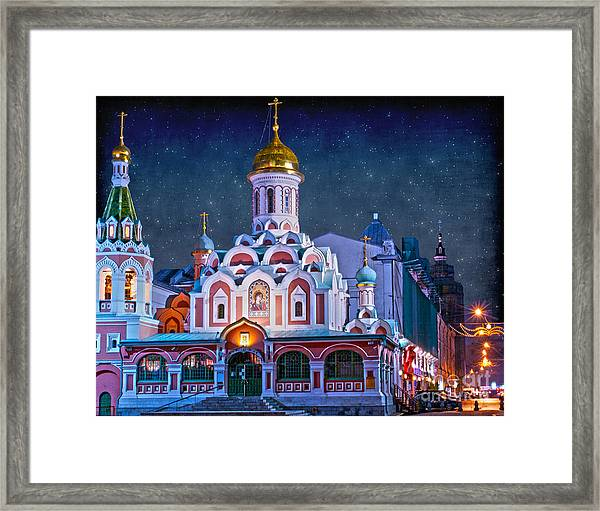 Kazan Cathedral. Red Square. Moscow Russia Framed Print