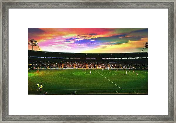 Kc Stadium In Kingston Upon Hull England Framed Print