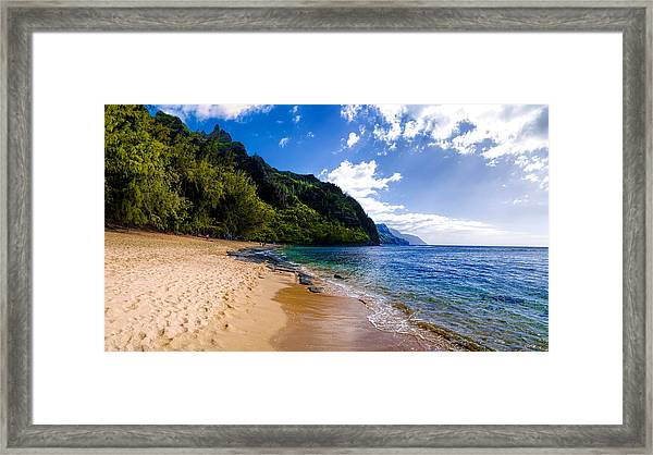 Ke'e Beach Framed Print