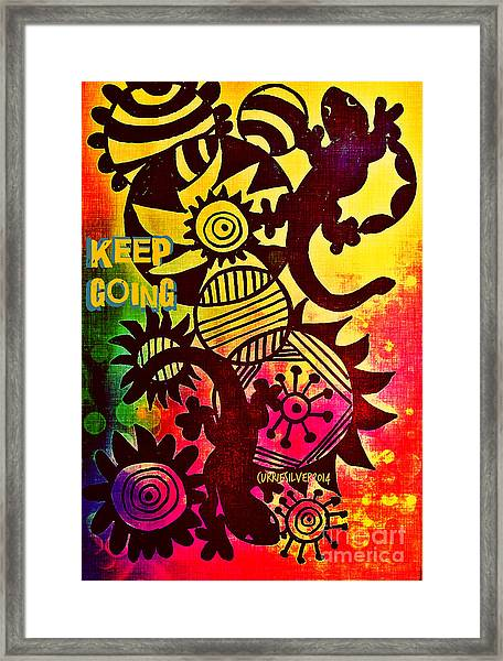 Keep Going Framed Print by Currie Silver