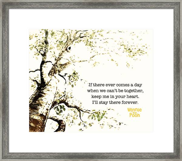 Keep Me In Your Heart Framed Print