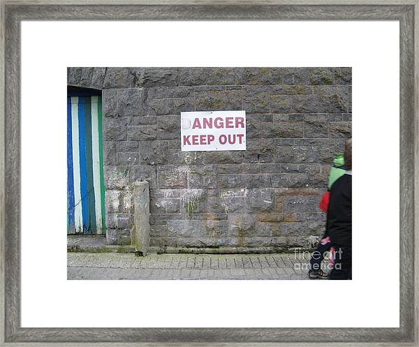 Keep Out Aran Islands Ireland Framed Print