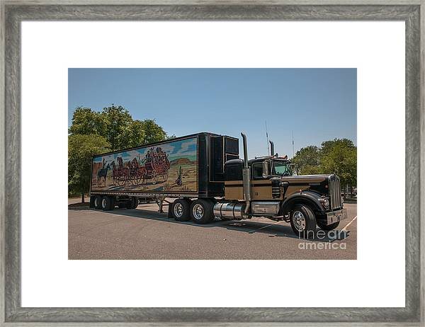 Keep Those Wheels A Truckin Framed Print