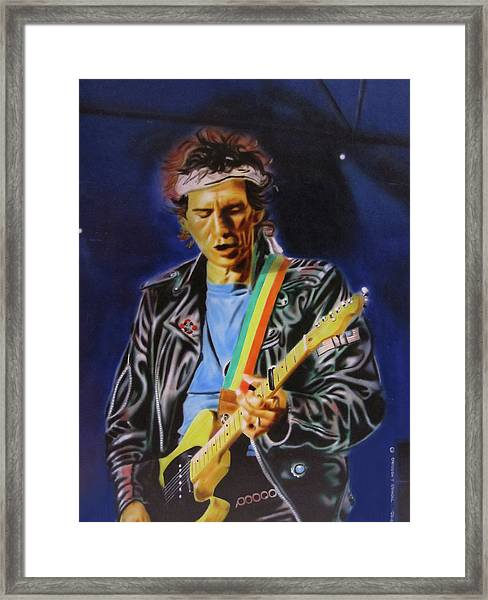 Keith Richards Of Rolling Stones Framed Print