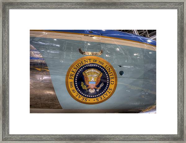 Kennedy Air Force One Framed Print