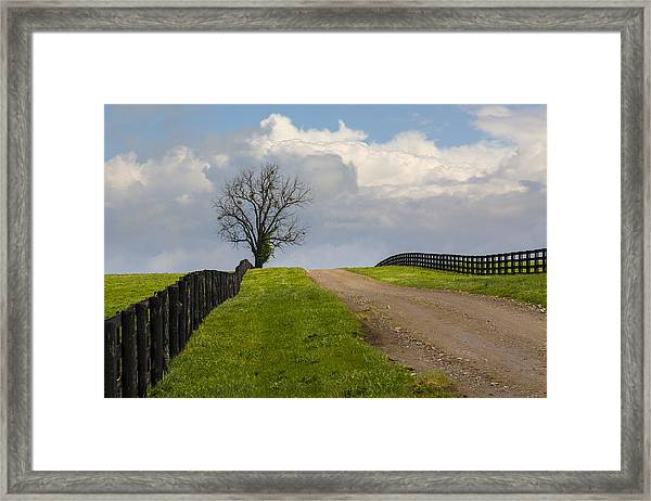 Kentucky Horse Farm Road Framed Print