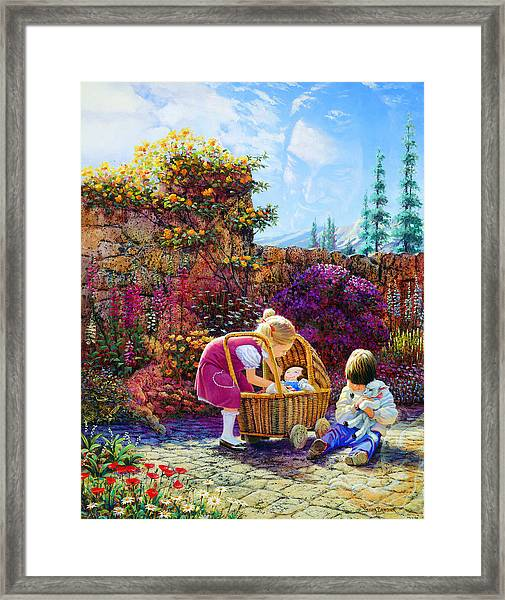 Kept By His Hand Framed Print
