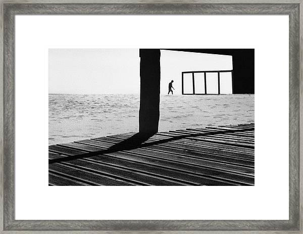 Kept On Walking Framed Print