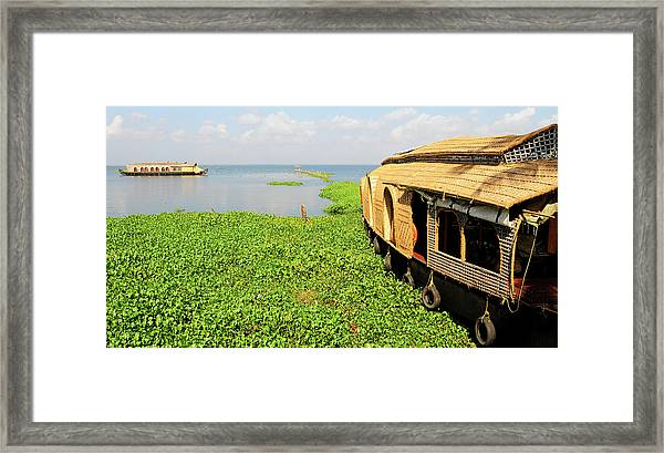 Kerala Houseboats On Kumarakom Lake Framed Print