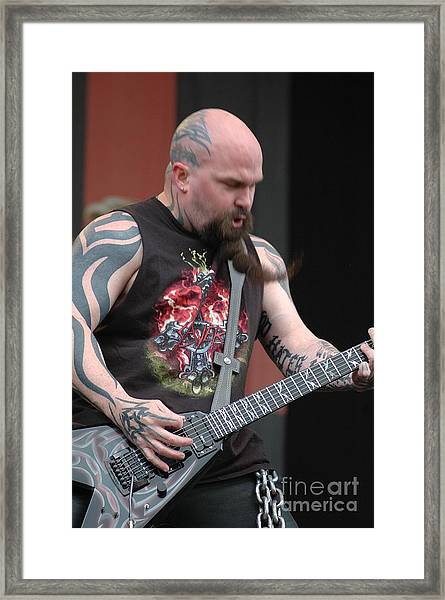 Kerry King From Slayer Framed Print