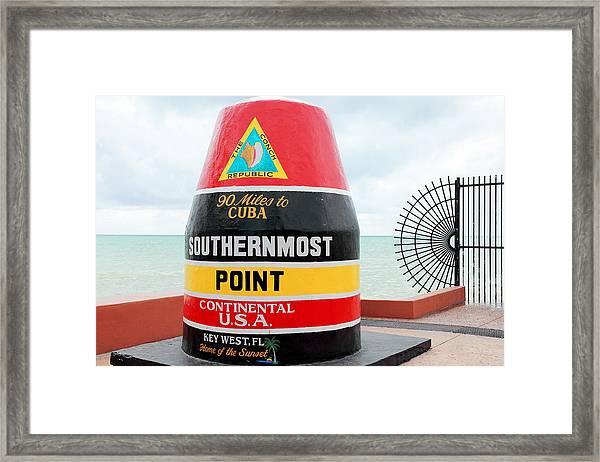 Key West Futhermost South Buoy Framed Print