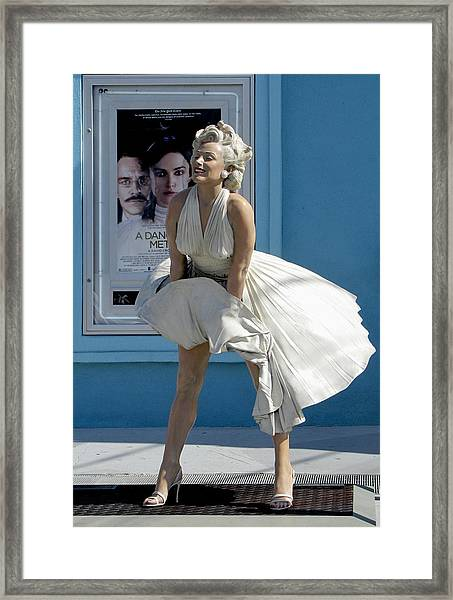 Framed Print featuring the photograph Key West Marilyn by Bob Slitzan