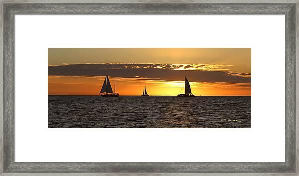 Key West Sunset Fleet Framed Print