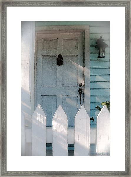 Key West Welcome To My Home Framed Print