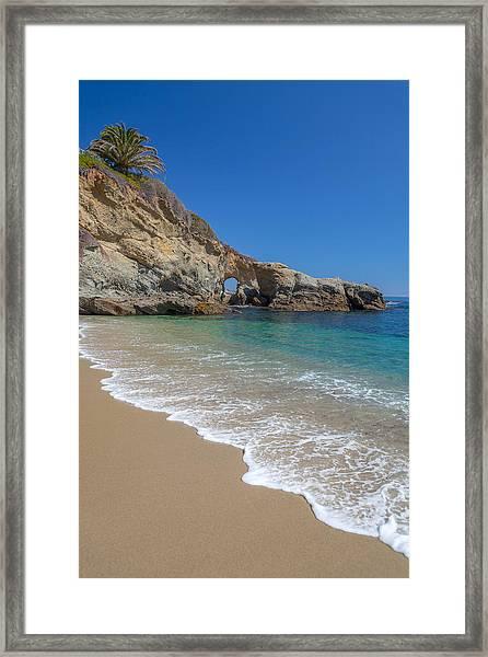 Keyhole Arch Laguna Beach Framed Print
