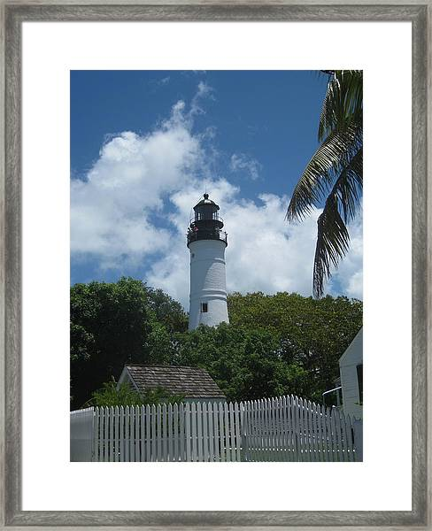 Framed Print featuring the photograph Keys Beacon by Barbara Von Pagel