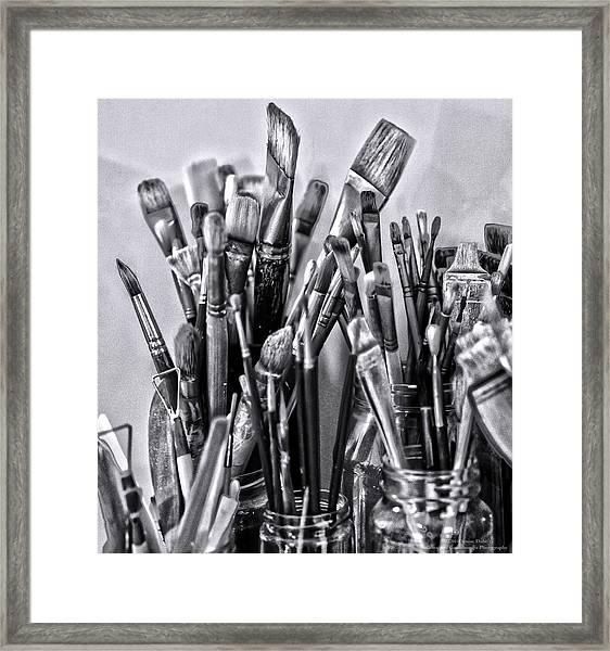 Keys To The Eye Of Life Bw By Denise Dube Framed Print