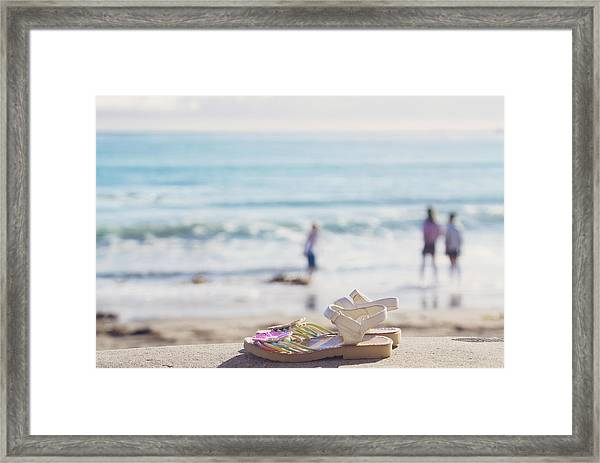 Kick Off Your Shoes... And Play Framed Print