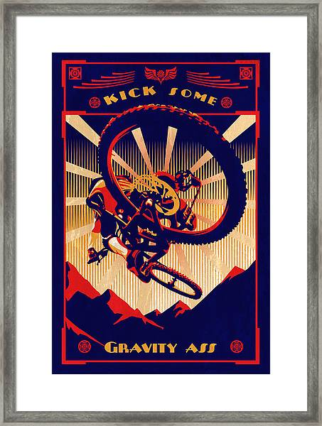 Kick Some Gravity Ass Framed Print