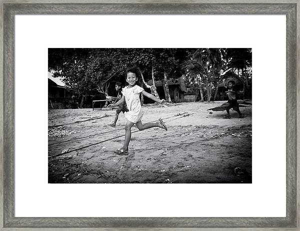 Kid's Games Framed Print