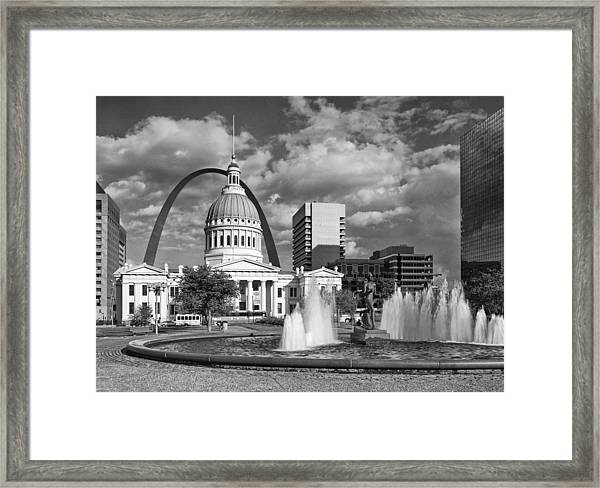 Kiener Plaza Framed Print