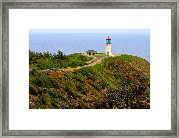 Kilauea Lighthouse In Color Framed Print