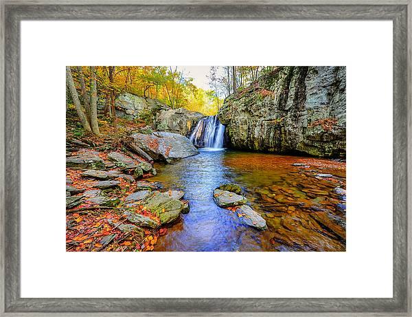 Kilgore Falls In Maryland In Autumn Framed Print