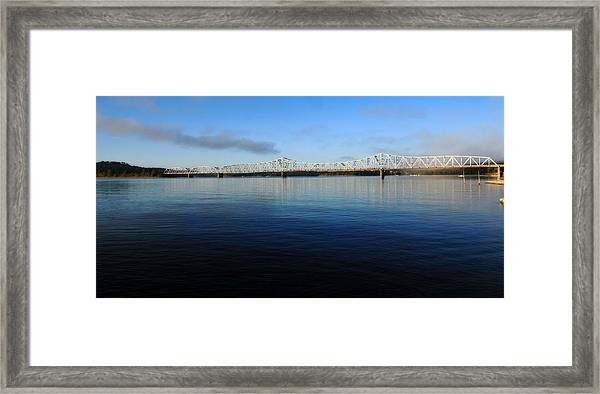 Kimberling City Bridge Framed Print
