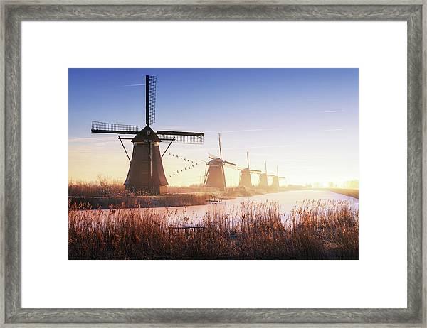 Kinderdijk 4. Framed Print by Juan Pablo De