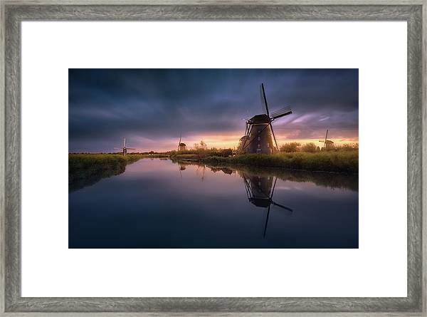 Kinderdijk Windmills Framed Print