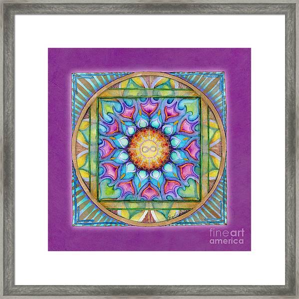 Kindness Mandala Framed Print