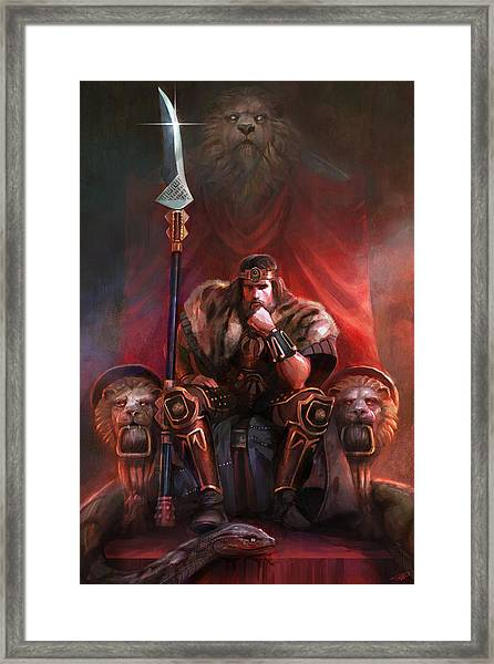 King By His Own Hand Framed Print
