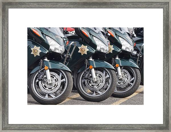 King County Police Motorcycle Framed Print